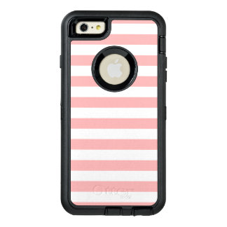 Funda OtterBox Defender Para iPhone 6 Plus Modelo rosado y blanco de la raya