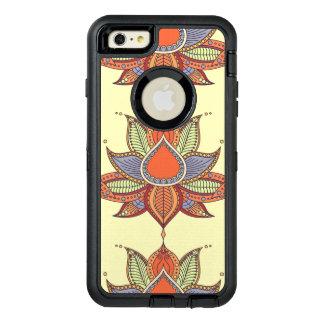 Funda OtterBox Defender Para iPhone 6 Plus Ornamento étnico de la mandala del loto de la flor