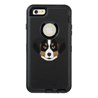 Funda OtterBox Defender Para iPhone 6 Plus Perro de montaña de Bernese del ilustracion