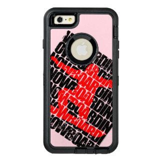 Funda OtterBox Defender Para iPhone 6 Plus Snowboard #1 (negro)