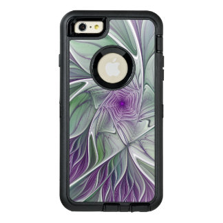 Funda OtterBox Defender Para iPhone 6 Plus Sueño de la flor, arte verde púrpura abstracto del
