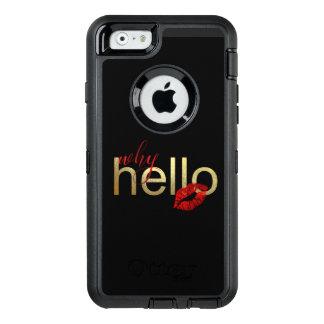 "FUNDA OtterBox DEFENDER PARA iPhone 6 ""PORQUÉ HOLA"" CASO CAPRICHOSO DE IPHONE"