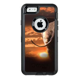 Funda OtterBox Defender Para iPhone 6 Puesta del sol con el elefante