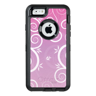 Funda OtterBox Defender Para iPhone 6 Rosa moderno floral caprichoso del modelo