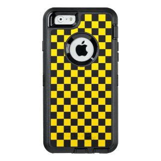Funda OtterBox Defender Para iPhone 6 Tablero de damas amarillo