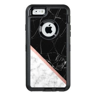 Funda OtterBox Defender Para iPhone 6 Textura de mármol blanco y negro