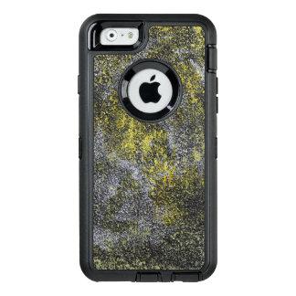 Funda OtterBox Defender Para iPhone 6 Tinta blanco y negro en fondo amarillo