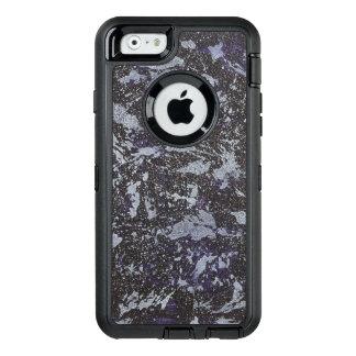 Funda OtterBox Defender Para iPhone 6 Tinta blanco y negro en fondo púrpura