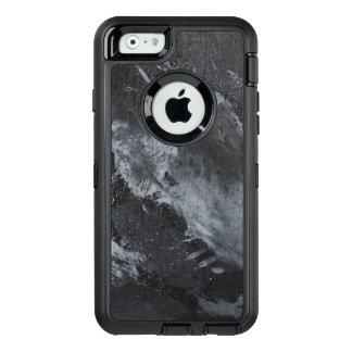 Funda OtterBox Defender Para iPhone 6 Tinta blanco y negro en negro