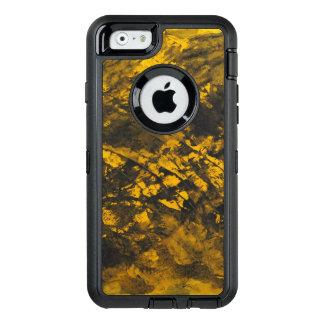 Funda OtterBox Defender Para iPhone 6 Tinta negra en fondo amarillo