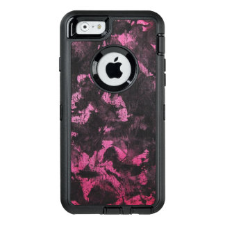 Funda OtterBox Defender Para iPhone 6 Tinta negra en fondo rosado