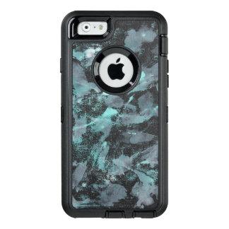 Funda OtterBox Defender Para iPhone 6 Tinta verde y blanca en fondo negro
