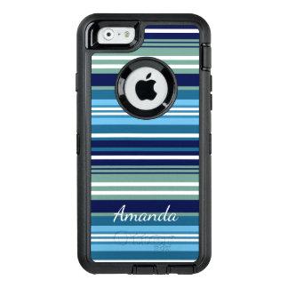 Funda OtterBox Defender Para iPhone 6 Trullo azul y rayas blancas del verano
