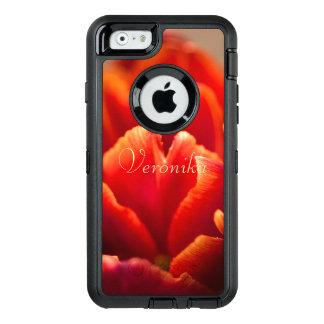 Funda OtterBox Defender Para iPhone 6 Tulipán rojo