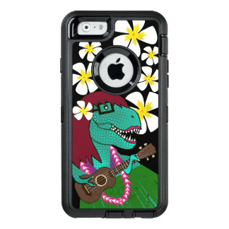 Funda OtterBox Defender Para iPhone 6 Ukulele hawaiano del dinosaurio