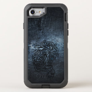 Funda OtterBox Defender Para iPhone 8/7 Acero tribal del caballo