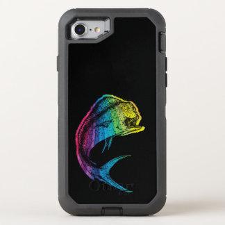 Funda OtterBox Defender Para iPhone 8/7 Arco iris Mahi Mahi en negro