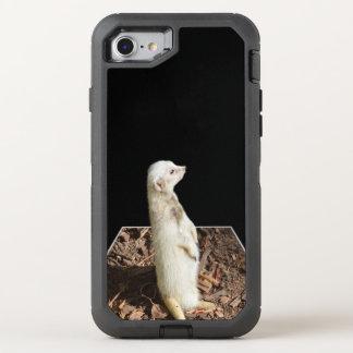 Funda OtterBox Defender Para iPhone 8/7 Arte blanco del Popout de Meerkat, caso del