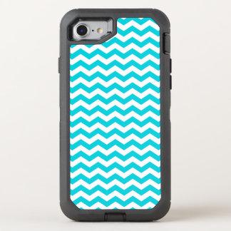 Funda OtterBox Defender Para iPhone 8/7 Blanco y modelo de zigzag de la aguamarina