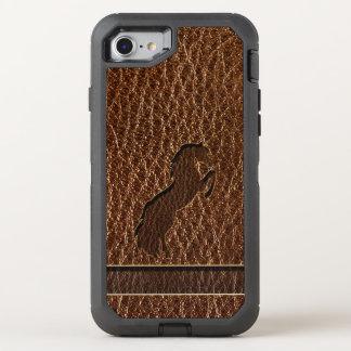 Funda OtterBox Defender Para iPhone 8/7 Caballo 2 de la Cuero-Mirada