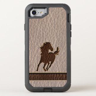 Funda OtterBox Defender Para iPhone 8/7 Caballo de la Cuero-Mirada suave