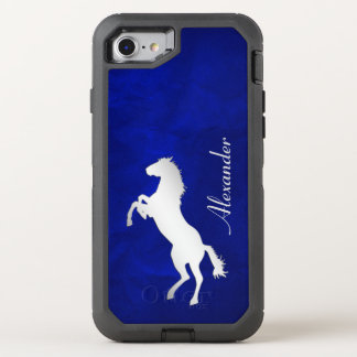 Funda OtterBox Defender Para iPhone 8/7 Caballo de plata azul