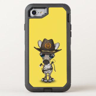 Funda OtterBox Defender Para iPhone 8/7 Cazador del zombi de la cebra del bebé