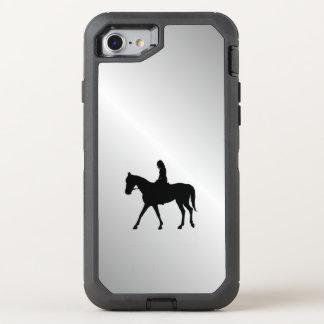 Funda OtterBox Defender Para iPhone 8/7 Chica en la plata del caballo