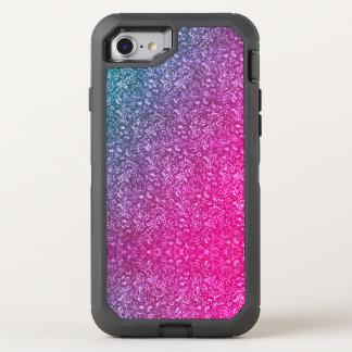 Funda OtterBox Defender Para iPhone 8/7 Colorido brillante floral azul silenciado del rosa