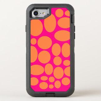 Funda OtterBox Defender Para iPhone 8/7 Cubierta rosada y anaranjada de la caja del