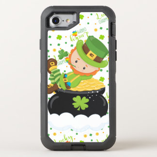 Funda OtterBox Defender Para iPhone 8/7 El Leprechaun del arroz del St