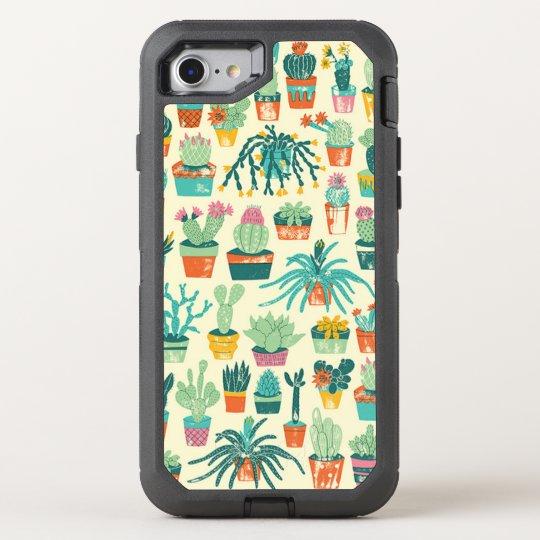 Funda OtterBox Defender Para iPhone 8/7 Estampado de plores colorido del cactus