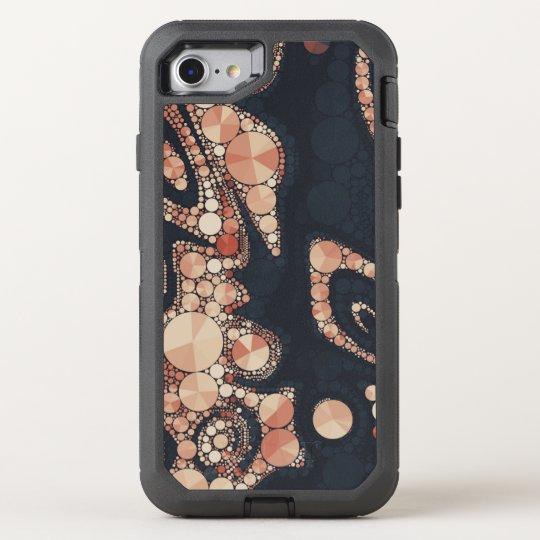 Funda OtterBox Defender Para iPhone 8/7 Extracto negro de Bling del melocotón