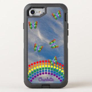 Funda OtterBox Defender Para iPhone 8/7 Femenino con monograma de las mariposas el | del