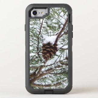 Funda OtterBox Defender Para iPhone 8/7 Fotografía de la naturaleza del invierno del cono