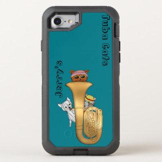 Funda OtterBox Defender Para iPhone 8/7 Gatos en una tuba