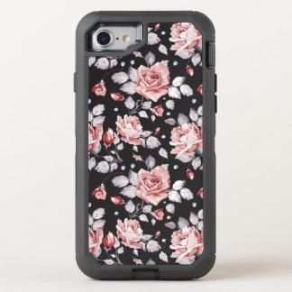Funda OtterBox Defender Para iPhone 8/7 iPhone rosado de Apple del estampado de flores del