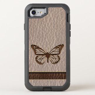 Funda OtterBox Defender Para iPhone 8/7 Mariposa de la Cuero-Mirada suave