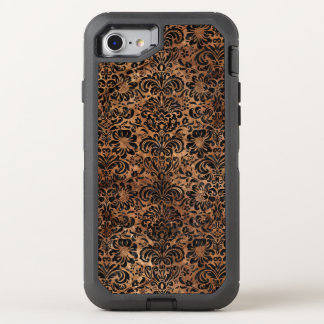 FUNDA OtterBox DEFENDER PARA iPhone 8/7 MÁRMOL DAMASK2 Y BROWN NEGROS (R) DE PIEDRA
