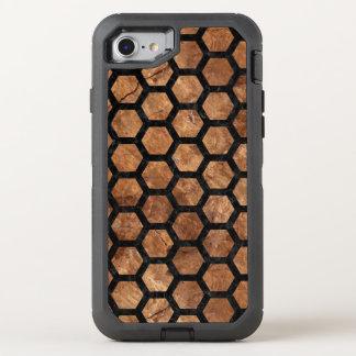 FUNDA OtterBox DEFENDER PARA iPhone 8/7 MÁRMOL HEXAGON2 Y BROWN NEGROS (R) DE PIEDRA