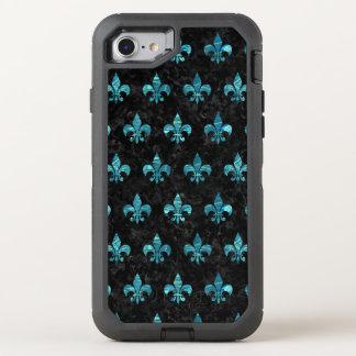 FUNDA OtterBox DEFENDER PARA iPhone 8/7 MÁRMOL NEGRO ROYAL1 Y AGUA AZULVERDE (R)