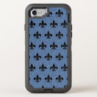 FUNDA OtterBox DEFENDER PARA iPhone 8/7 MÁRMOL NEGRO ROYAL1 Y DRIL DE ALGODÓN AZUL