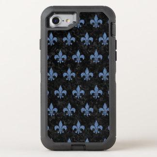 FUNDA OtterBox DEFENDER PARA iPhone 8/7 MÁRMOL NEGRO ROYAL1 Y DRIL DE ALGODÓN AZUL (R)