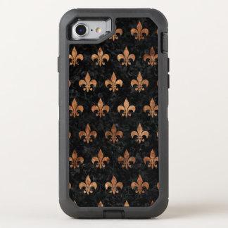 FUNDA OtterBox DEFENDER PARA iPhone 8/7 MÁRMOL ROYAL1 Y BROWN NEGROS (R) DE PIEDRA