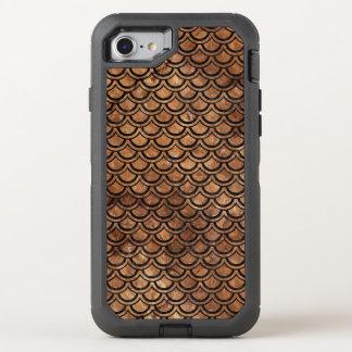 FUNDA OtterBox DEFENDER PARA iPhone 8/7 MÁRMOL SCALES2 Y BROWN NEGROS (R) DE PIEDRA