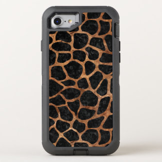 FUNDA OtterBox DEFENDER PARA iPhone 8/7 MÁRMOL SKIN1 Y BROWN NEGROS (R) DE PIEDRA