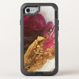 Funda OtterBox Defender Para iPhone 8/7 Marrón y mármol del oro