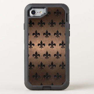 FUNDA OtterBox DEFENDER PARA iPhone 8/7 METAL NEGRO DEL MÁRMOL ROYAL1 Y DEL BRONCE