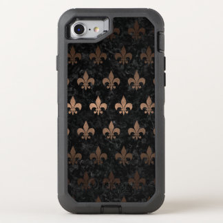 FUNDA OtterBox DEFENDER PARA iPhone 8/7 METAL NEGRO DEL MÁRMOL ROYAL1 Y DEL BRONCE (R)