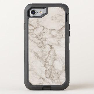 Funda OtterBox Defender Para iPhone 8/7 Mirada de mármol marrón clara